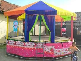 trampoline kereta mini mainan koin odong bianglala