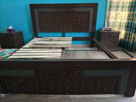 Bed with Side tables and Dressing Table for sale