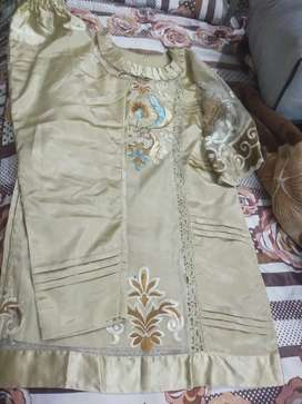 2 piece suit skin colour full embroidery medium size