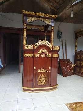 Mimbar kubah masjid ukir arab