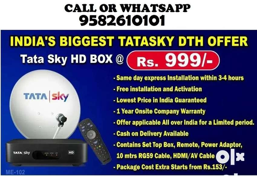 BUY NEW TATA SKY AIRTEL DISH TV WITH INSTALLATION