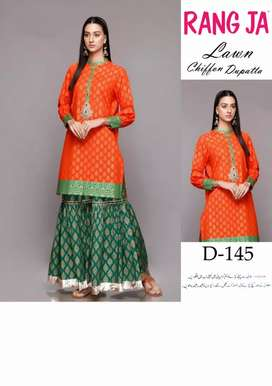 Lawn 3 piece Embroidered Dress