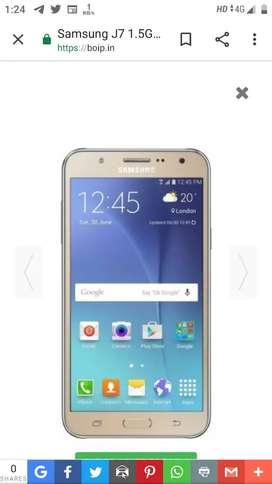 Samsung j7 gold good condition