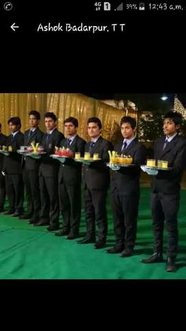 Direct hiring for waiters and security guard