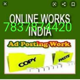 We are offering various types of works online typing