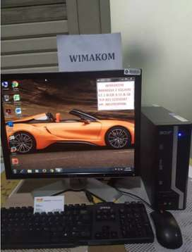 PC Acer Core i5 ram 4gb hdd 500 dvd second