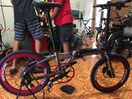 Seli Sepeda lipat FOLDx X9 10 speed
