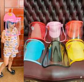 Topi face shield anak anti droplet