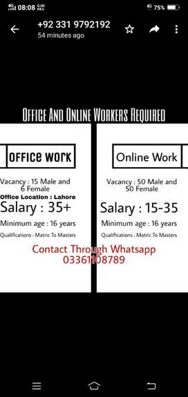 Jobs For Studets ( Whatsapp 0336___110___87__89 )