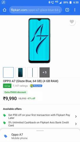 New phone oppo a7