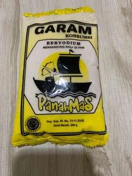 Garam Konsumsi beryodium 'PANAH MAS' 250Gr isi 20 bungkus (1 Bal)
