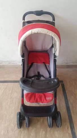 Imported foldable Pram Red & Black
