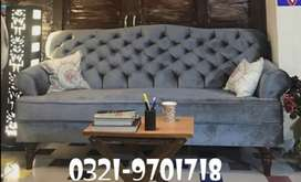 New sofa Classic Three seater in imported shaineel fabric Cushioning