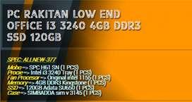 PC RAKITAN OFFICE ALL NEW  I3 3240 | 4GB RAM | SSD 120GB