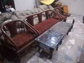 5 seater sofa full solid wood for sale