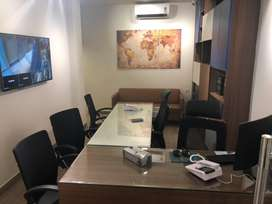 Furnished office for 10-12 person including toilet and pentry