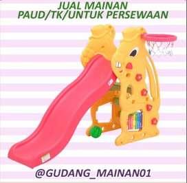 Mainan Indoor Playground Perosotan Dengan Ring Basket Murah