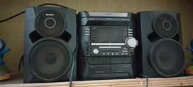 sony home theater black woofers