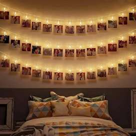 Photo Clip's Led Fairy Light Battery Operated 20 Total Clips
