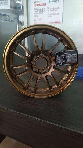 JUAL Velg Flow Foarming R15x7 4x100 Rays RE30 Bronze Jazz Yaris
