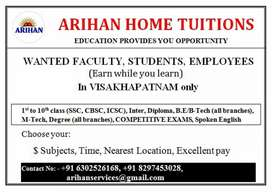 Required home tutors