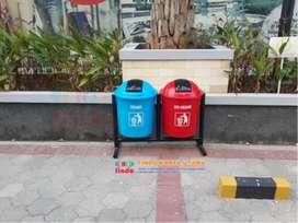 Tong Sampah Gandeng Bulat Organik Non Organik
