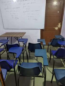 Writing chair, study chair, and white board