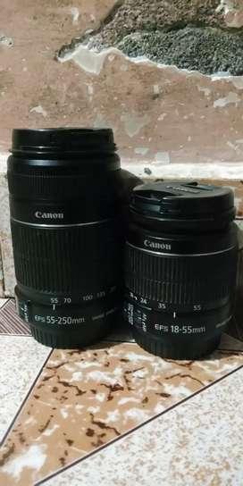 Canon Original Lenses 18-55mm/55-250mm/