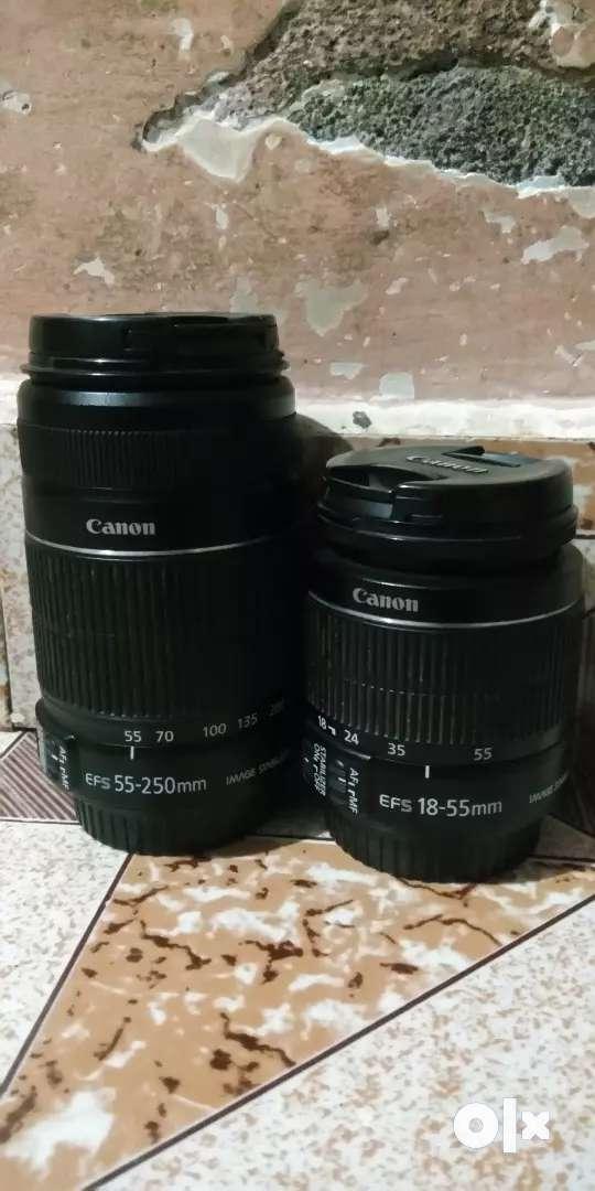Canon Original Lenses 18-55mm/55-250mm/ 0