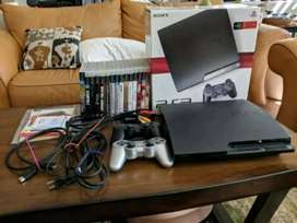 Hardly used sony playstation 3 with games and