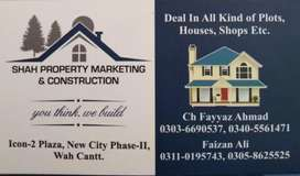 New city phase 2 wah cantt Pairs plots for sale