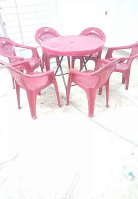 Garden chairs with umbrella