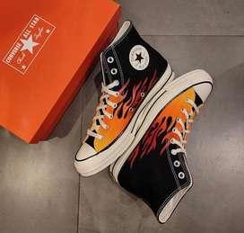 Sepatu converse on fire size 41 original 100% .Nego tipis boleh