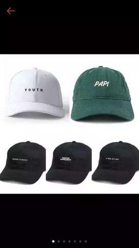 Topi bisa design tulisan sendiri
