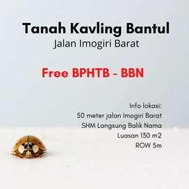 Free BPHTB dan BBN Kavling Murah SHM Pekarangan Di Bantul Jogja