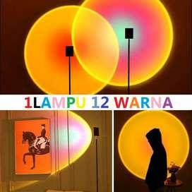 Sunset lamp Lampu Tidur Proyektor Led Motif Matahari Terbenam Warna