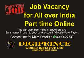 Work from home online job All over India available