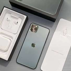 iPhone 11 Pro Max 64Gb Midnight Green Fullset Istimewa Mulusss