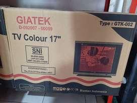 Televisi tv giatek 17inch semi tabung berwarna (sinar kita)