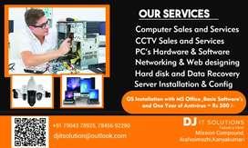Personal & Laptop Sales & Services, CCTV Sales & Services,