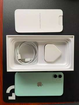 Get fast I phone 11 128 gb green super condition