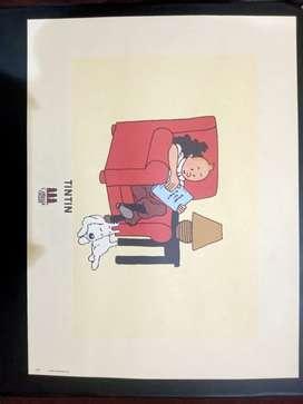 Poster Tintin Moulinsart Original 1996