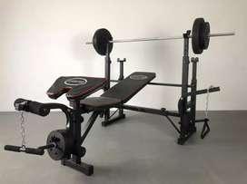 New bench press terbaru Multifungsi + beban 40 kg