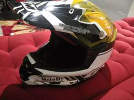 Helm cross GM dan Helm cross Mds dobel kaca luar dalam