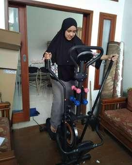 Sepeda statis orbitrek alat olahraga lengkap