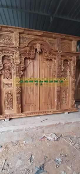 cuci gudang pintu gebyok gapuro jendela rumah masjid musholla asmanah