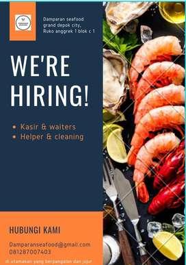 lowongan kerja kasir & waiters , helper & cleaner