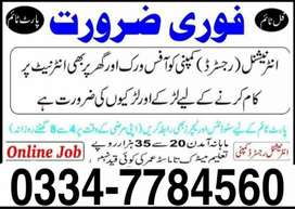 Online work for students male & femail
