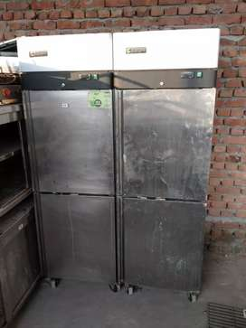 Used restaurant commercial kitchen equipment old 4 door fridge freezer