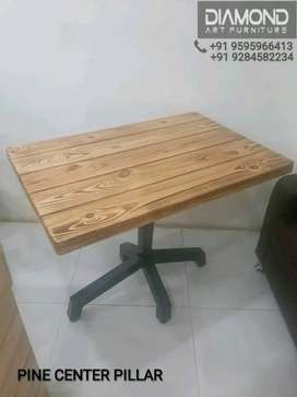 NEW 3X2 CAFE HOTEL RESTAURANT PINE FLAME POLISH Y TABLE MANUFACTURER